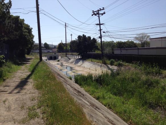 Drainage canal near work.